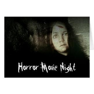 La noche de película de terror del chica del fanta tarjeta de felicitación