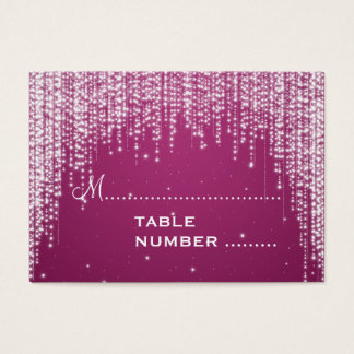 La noche de Placecards del boda deslumbra rosa de Tarjeta De Negocios