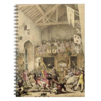 La noche de Reyes Revels en el gran pasillo, Haddo Notebook