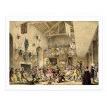 La noche de Reyes Revels en el gran pasillo, Tarjeta Postal