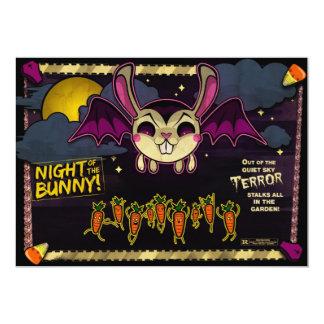 """La noche del conejito invita invitación 5"""" x 7"""""""