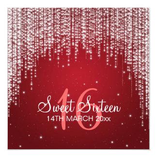 La noche del fiesta del dulce dieciséis deslumbra anuncio personalizado