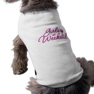 la noche del fin de semana de los chicas hacia fue camiseta de mascota