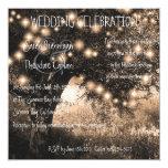 La noche del roble del vintage enciende el boda invitación personalizada