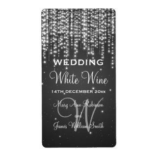 La noche elegante de la etiqueta del vino del boda etiquetas de envío