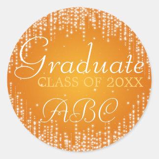 La noche elegante de la graduación deslumbra el pegatina redonda