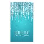 La noche elegante deslumbra el azul tarjetas de visita