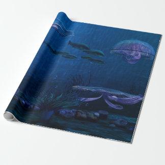 La noche enciende el acuario de las medusas papel de regalo