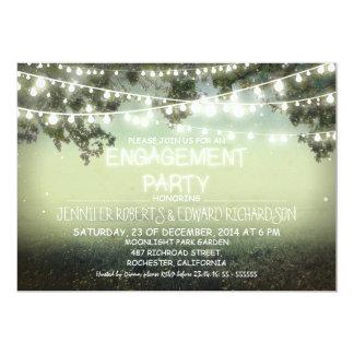 la noche enciende invitaciones rústicas del fiesta comunicados