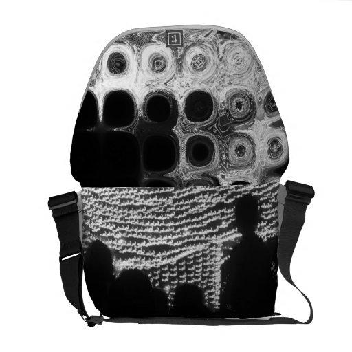 La noche enciende la bolsa de mensajero del diseña bolsa de mensajeria