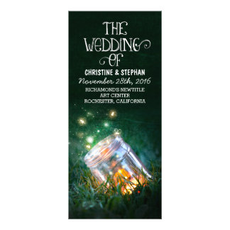 la noche enciende programa del boda del tarro de tarjetas publicitarias