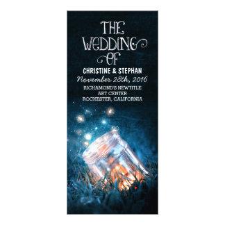 la noche enciende programa del boda del tarro de tarjeta publicitaria a todo color