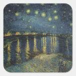 La noche estrellada, 1888 calcomanías cuadradas