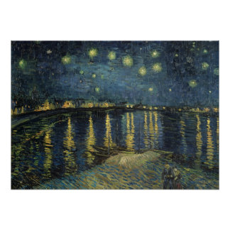 La noche estrellada, 1888 póster