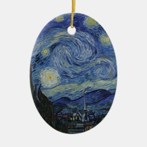 La noche estrellada, 1889 de Vincent van Gogh Ornamentos De Navidad
