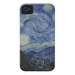 La noche estrellada, 1889 de Vincent van Gogh iPhone 4 Carcasa