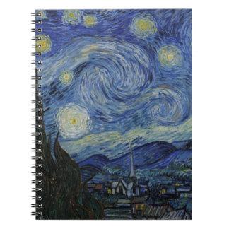 La noche estrellada 1889 de Vincent van Gogh Libreta Espiral