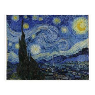 La noche estrellada, 1889 de Vincent van Gogh Postal