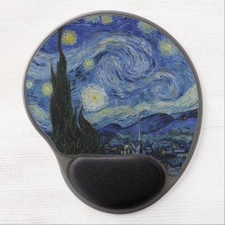 La noche estrellada de Van Gogh Mousepad Alfombrilla Para Ratón De Gel
