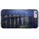 La noche estrellada de Van Gogh sobre el Rhone Funda De iPhone 6 Plus Tough