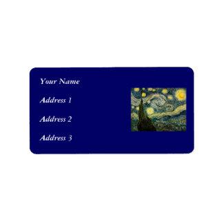 La noche estrellada de Vincent van Gogh (1889) Etiquetas De Dirección
