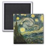 La noche estrellada de Vincent van Gogh (1889) Imanes Para Frigoríficos