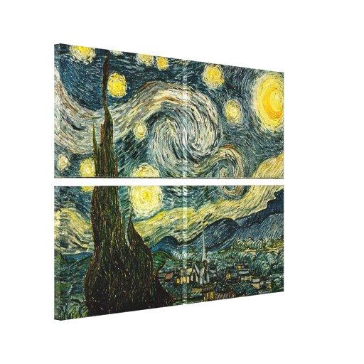 La noche estrellada de Vincent van Gogh (1889) Lona Envuelta Para Galerías