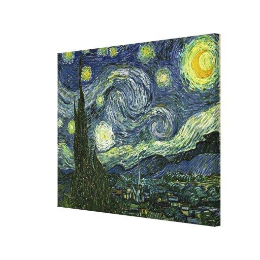 La noche estrellada de Vincent van Gogh (1889) Impresiones De Lienzo