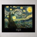 La noche estrellada de Vincent van Gogh (1889) Impresiones