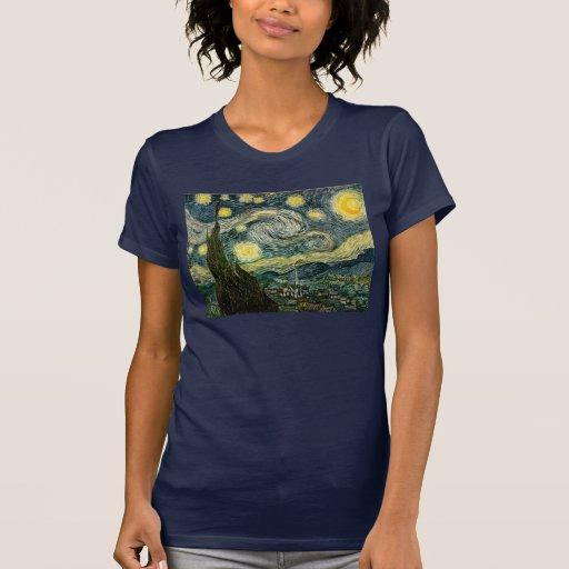 La noche estrellada de Vincent van Gogh (1889) Camisetas