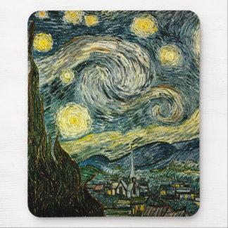 La noche estrellada de Vincent van Gogh 1889 Alfombrillas De Raton