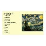 La noche estrellada de Vincent van Gogh (1889) Tarjeta De Visita
