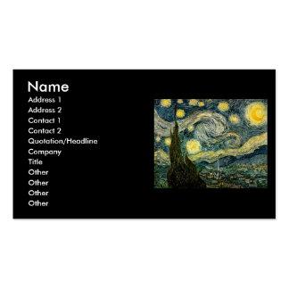 La noche estrellada de Vincent van Gogh (1889) Plantillas De Tarjetas Personales