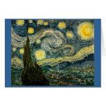 La noche estrellada de Vincent van Gogh (1889) Tarjeta De Felicitación