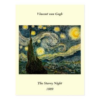 La noche estrellada de Vincent van Gogh (1889) Tarjetas Postales