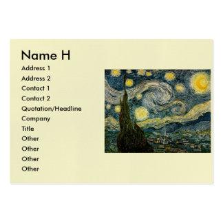 La noche estrellada de Vincent van Gogh (1889) Tarjetas De Visita Grandes