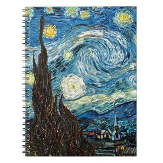 La noche estrellada de Vincent van Gogh Cuaderno