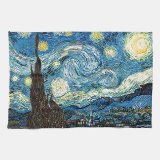 La noche estrellada de Vincent van Gogh Toalla De Cocina