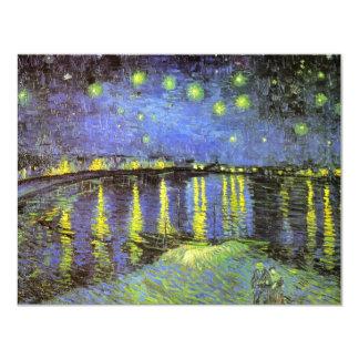 """La noche estrellada de Vincent van Gogh sobre el Invitación 4.25"""" X 5.5"""""""