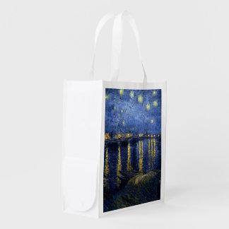 La noche estrellada de Vincent van Gogh sobre el R Bolsas De La Compra