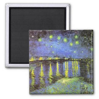 La noche estrellada de Vincent van Gogh sobre el R Imán Para Frigorifico