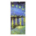 La noche estrellada de Vincent van Gogh sobre el R Tarjeta Publicitaria Personalizada