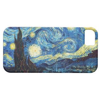 La noche estrellada iPhone 5 Case-Mate cárcasas