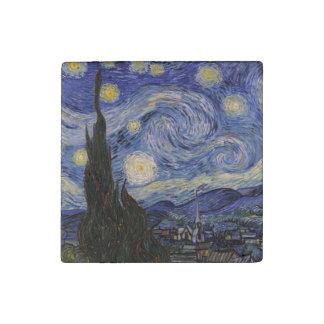 La noche estrellada imán de piedra