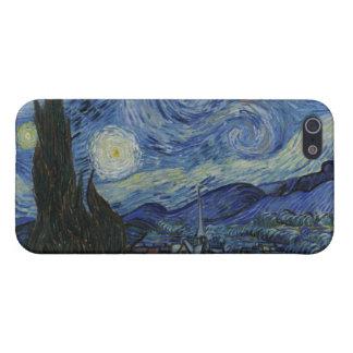 La noche estrellada iPhone 5 fundas