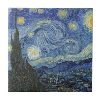 La noche estrellada, junio de 1889 (aceite en lona teja  ceramica