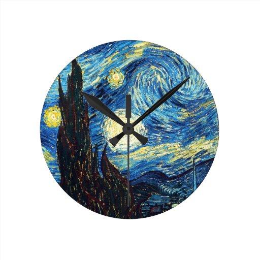 La noche estrellada relojes de pared