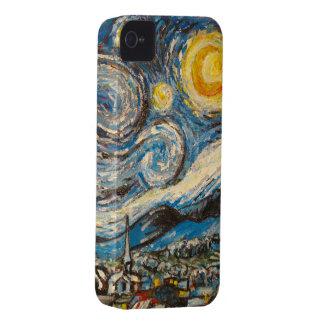 La noche estrellada repinta después de Vincent van iPhone 4 Coberturas