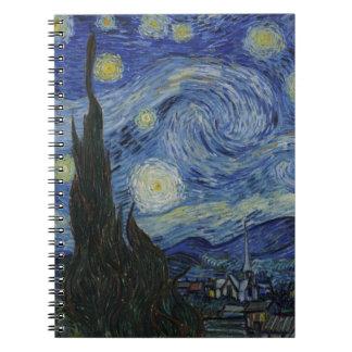 La noche estrellada - Van Gogh (1888) Libro De Apuntes Con Espiral
