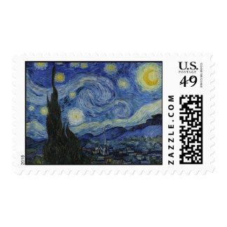 La noche estrellada - Van Gogh (1888) Franqueo